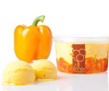 oranje paprika ijs