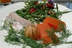 Gerookte zalm en forel als lichte lunch