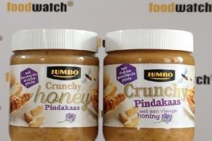 Jumbo Crunchy Honey Pindakaas bevat nauwelijks honing