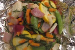 Vis met groentenmix uit de oven